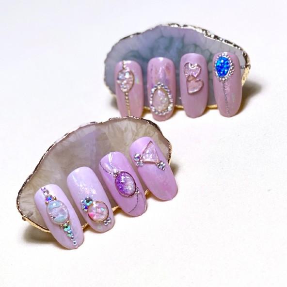 salon-nail-art-piedra-liquida-swarovski-stones-formas-metalicas-1-by-Fantasy-Nails