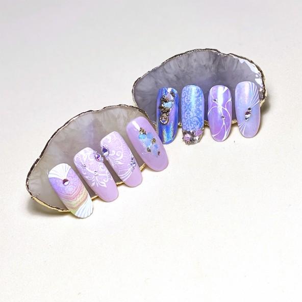 salon-nail-art-stamping-cat-eye-pigmentos-1-by-Fantasy-Nails