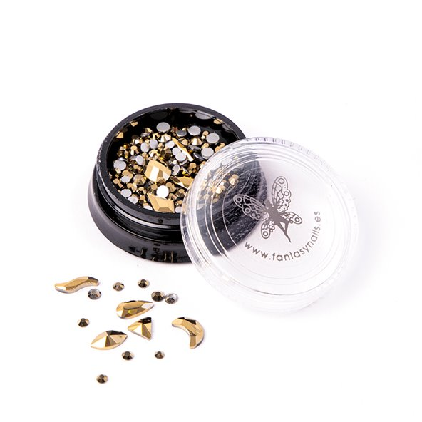 decoracion-mixed-crystal-jewels-vintage-gold-2-by-Fantasy-Nails