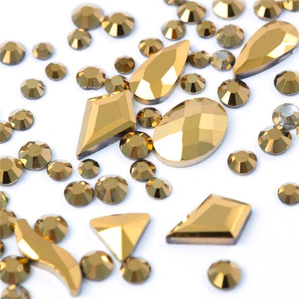 decoracion-mixed-crystal-jewels-vintage-gold-3-by-Fantasy-Nails