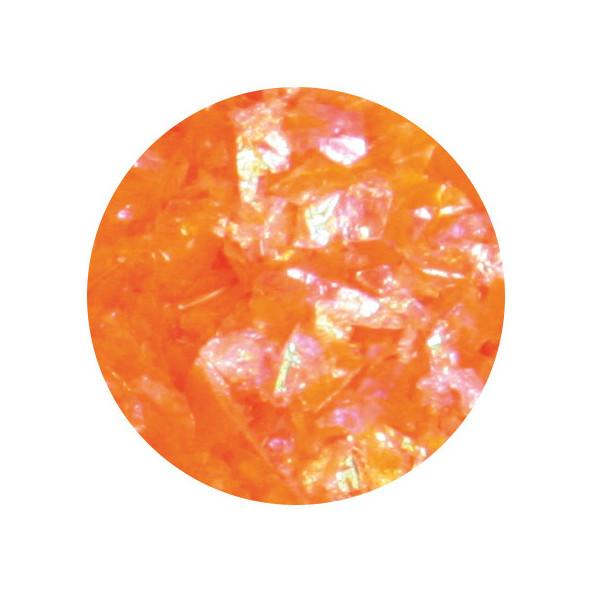 glitter-flakes-neon-orange-1-by-Fantasy-Nails