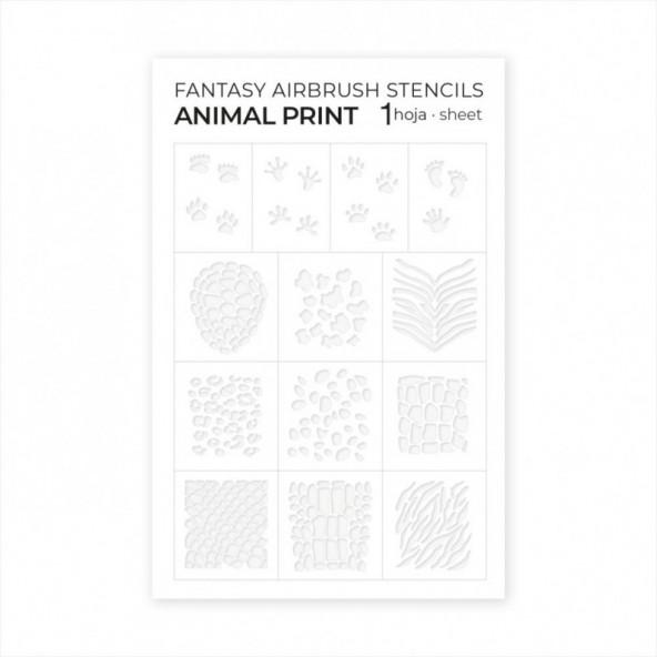 plantillas-para-aerografo-airbrush-adhesive-stencils-animal-print-1-by-Fantasy-Nails