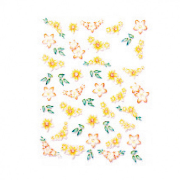 pegatinas-en-relieve-flowers-yellow-1-by-Fantasy-Nails