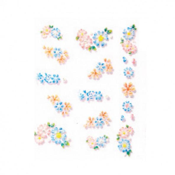 pegatinas-en-relieve-flores-azules-naranjas-1-by-Fantasy-Nails
